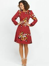 BNWT Myleene Klass Floral Long Sleeve Day Dress Size 12 RRP £62