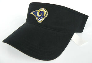 LOS-ANGELES-RAMS-NFL-BLACK-AMERICAN-NEEDLE-TEAM-ADJUSTABLE-VISOR-CAP-HAT-NWT