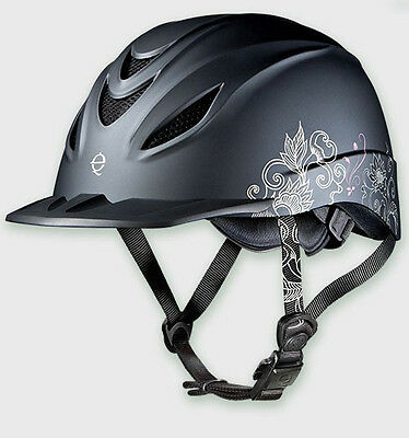 TROXEL INTREPID ALLURE WESTERN RIDING LOW PROFILE SAFETY HELMET DURATEC HORSE