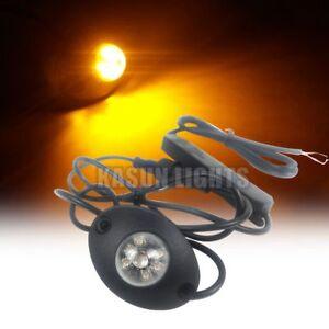 2in1 12 W LED Hide Away Emergency Flashing Vehicle Warning Strobe Lights Amber