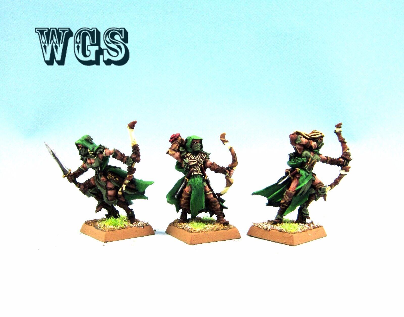 25mm Warhammer Fantasy WGS Painted Painted Painted Wood Elf Waywatchers WE009 2cc300