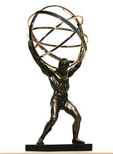 Atlas Titan Celestial Sphere Greek God Statue Sculpture Bronze Finish 8 86in