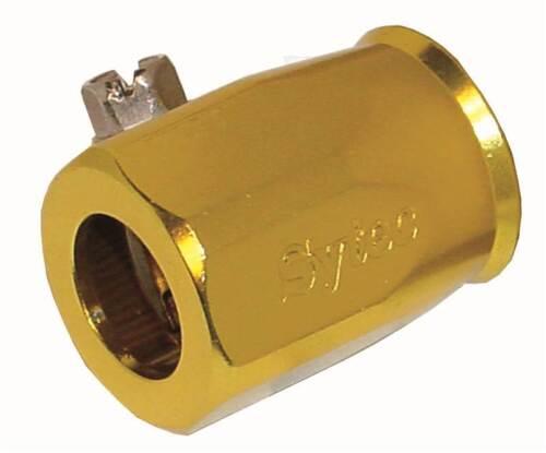 PRO002G-S Sytec Aleación Abrazadera De La Manguera terminadora//// Clip 15.5mm Oro Anodizado ID -6
