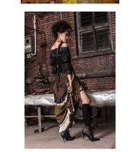 Rq-Bl steampunk gothic black top S