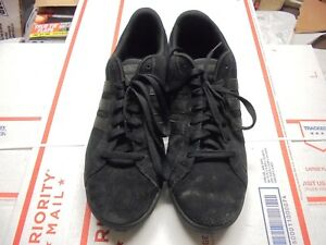 Details about Mens Adidas Neo Comfort Footbed Casual Shoe Size 10.5 Black 3 Stripe EUC
