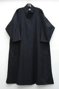 Eskandar lijn A kraag 95wol zwarte lange keizerlijke jurk01890 5kasjmier wn8P0kO