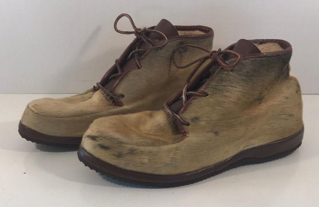 Para Mujer Zapatos botas botas botas al Tobillo De Piel Marrón Tan-posiblemente ciervo o similar, tamaño 9  minoristas en línea