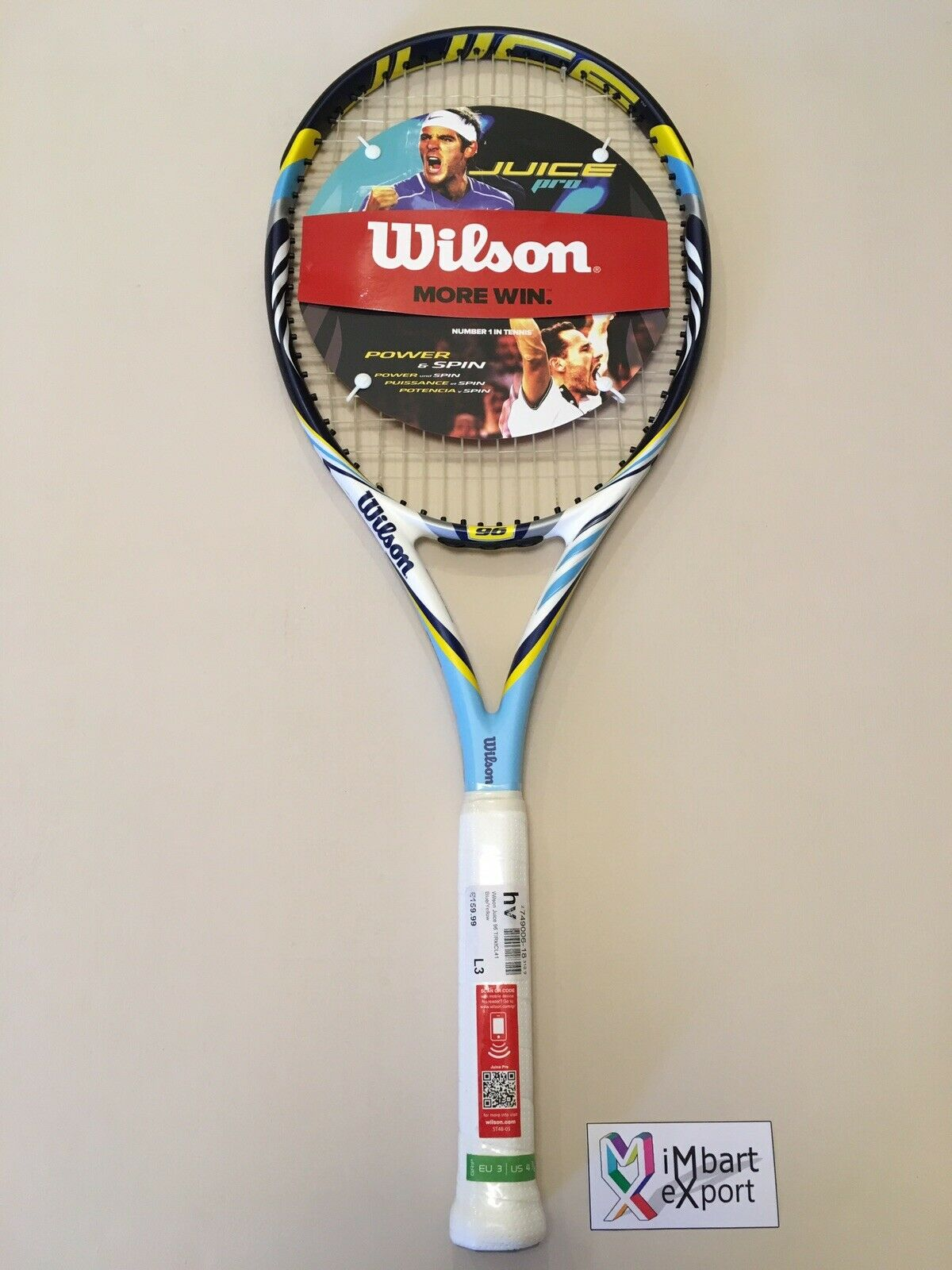 WILSON BLX JUICE PRO 96 16x20 324 L3 Del Potro Racchetta Tennis Racket