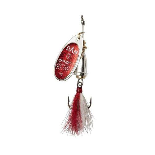 DAM EFFZETT FZ Dressed Executor Spinner Reflex Rot verschiedene Größen
