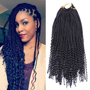 1pcs Crochet Hairstyles Faux Locs Curly Ends Dreadlocks Synthetic