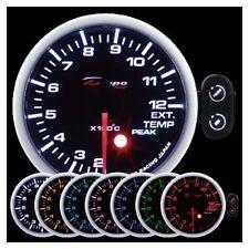 Depo Racing 60mm EGT Temp Gauge 7 Color Peak Warning series PK6057B