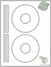 1000 CD/ DVD Labels Fits Size 5931, 8931, 8692 Laser Ink Jet 500 Sheets!