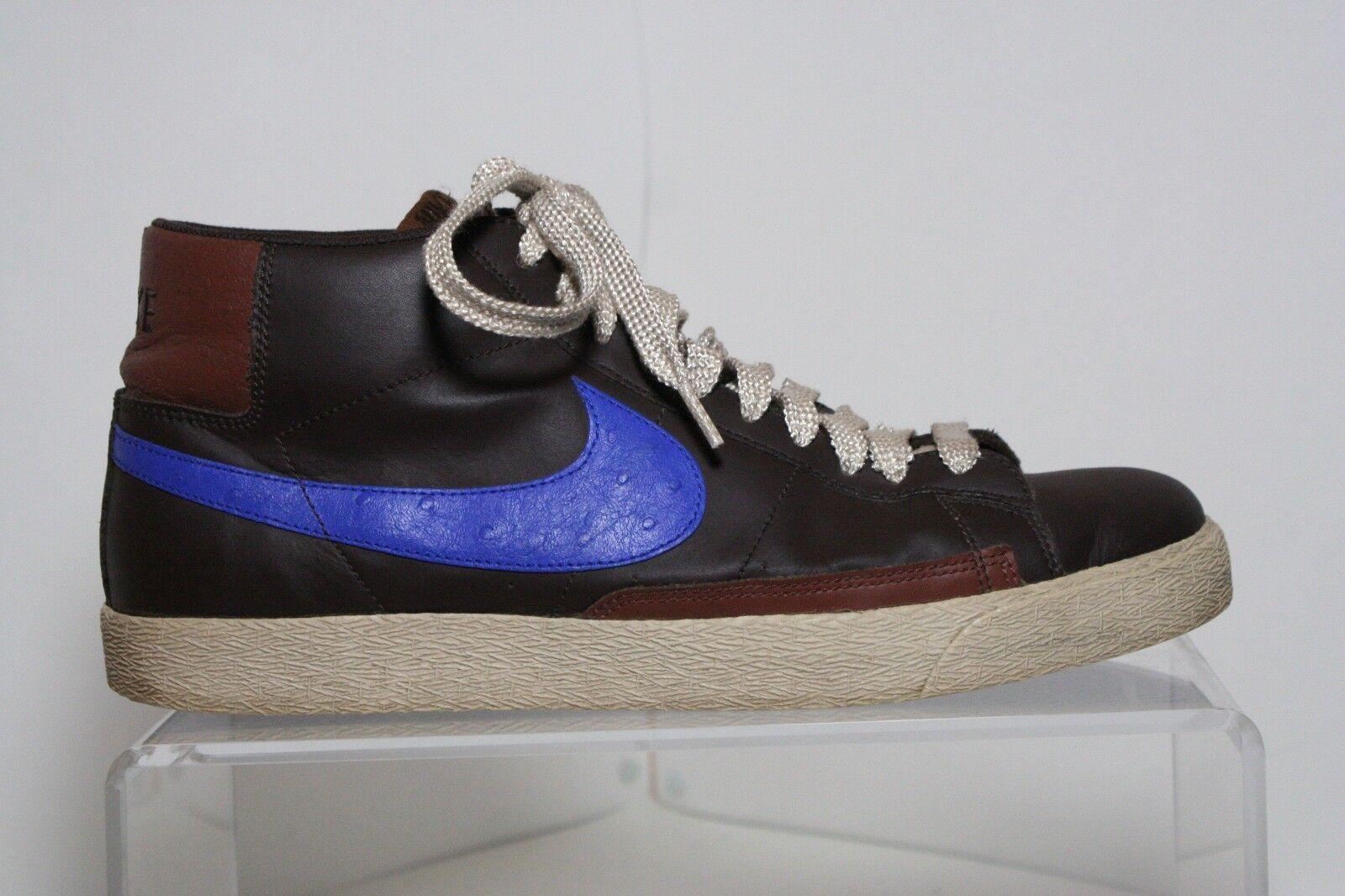 Nike Blazer High 07' Sneaker Leather Athletic Hip Multi Brown Men 13 bluee EUC