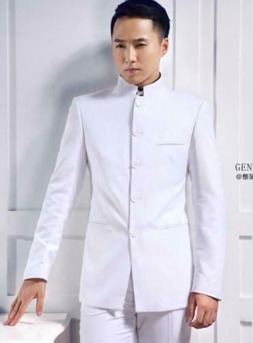 Chinese Men's Formal Coat Stand Collar Wedding Party Dress Blazer Jacket Coats