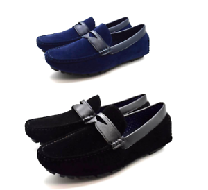 Sizes 6-11 Mens Suede Leather Casual and Formal Shoes Lace Up Designer Loafers