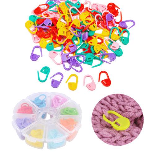 104pcs Stitch Markers Knitting Crochet Locking Needle Clip Holder Tool Craft Set