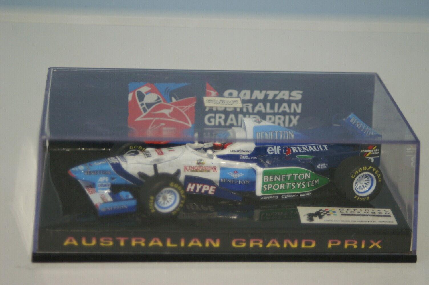 Minichamps Benetton Renault B196 Australian s.e.n.c. J. Alesi 433 960003 échelle 1 43