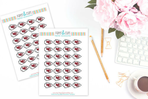 Perfect for all Planners like Erin Condren Kansas City Chiefs Planner Stickers