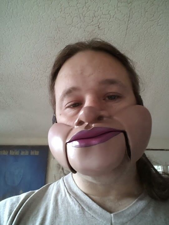 Male Male Male with Nose Ventriloquist mask 7eae00