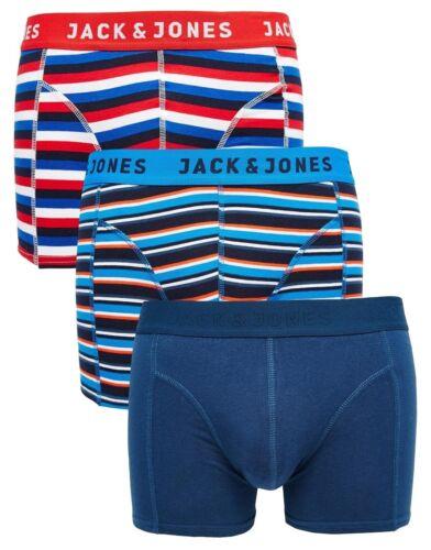 JACK /& JONES MENS 3-PACK TRUNKS//BOXER SHORTS SIZES S-XL