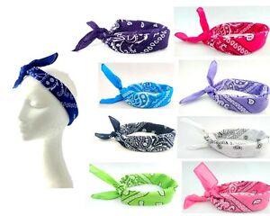 New Fashion Paisley Turban Bunny Bow Head Wrap Headband Retro Bandana Hair Band