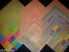 12x12 Scrapbook Paper Neon & Kraft Craft Rainbow Stack Recollections 60 Page Lot