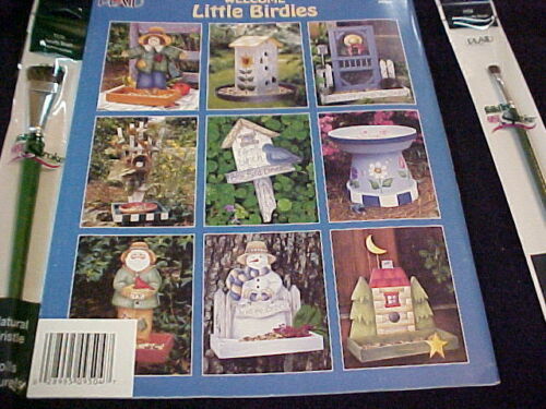 Welcome Little Birdies FolkArt  Decorative Painting Book 2 One Stroke Brushes