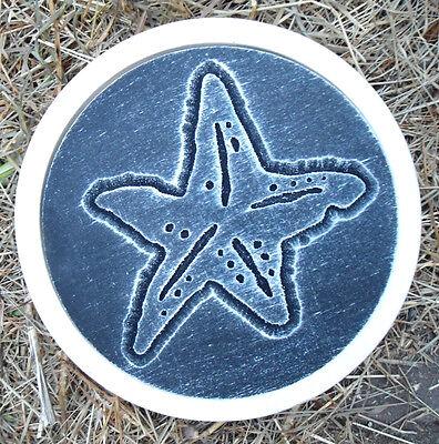 "Seascape travertine tile mold 6/"" x 6/""x 1//3/"" reusable plaster concrete resin"