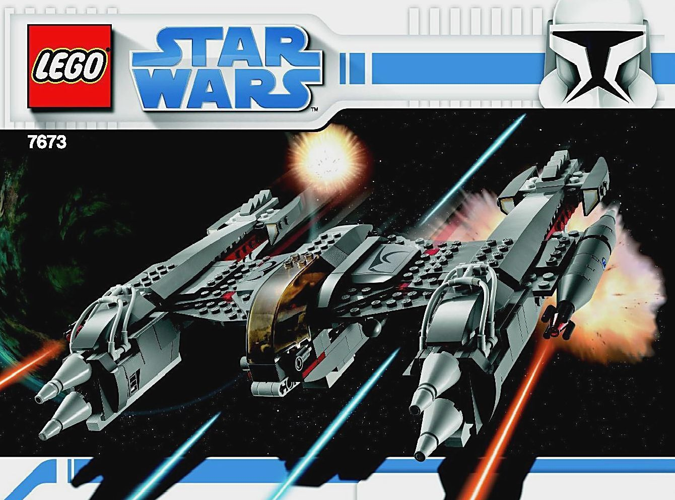 LEGO 7673 - STAR STAR STAR WARS - MagnaGuard Starfighter - 2008 - NO BOX c3312f
