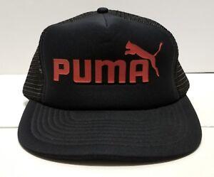 861c78cbbc4 Image is loading Vintage-Puma-Sportcap-Foam-Panel-Mesh-Trucker-Snapback-
