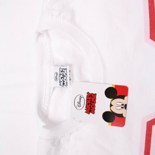 Ages 7-14 Years Disney Mickey Mouse Girls Kids Long Sleeve T-Shirt White