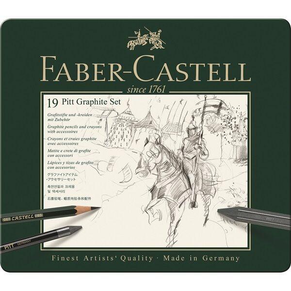 Faber Castell Set PITT Graphite medium Metalletui 112973 | Am wirtschaftlichsten  | Outlet Online  | Outlet Online Store