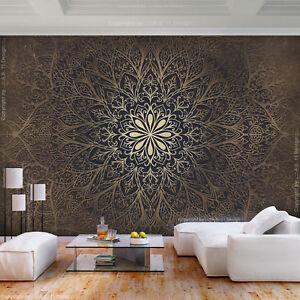 Details Zu Vlies Fototapete Mandala Ornament Braun Tapete Wandbilder Xxl Wohnzimmer 3 Farbe