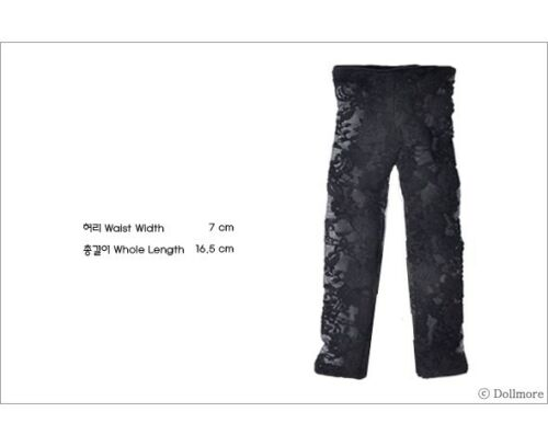 Lace TT leggings Black Dollmore  1//4 BJD MSD