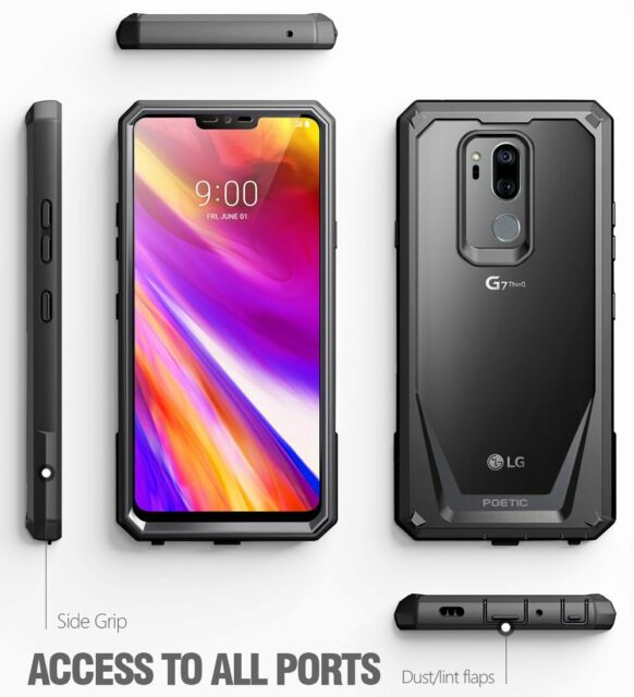 Poetic Guardian Series Black Case【360 Degree Protection】For LG G7 ThinQ