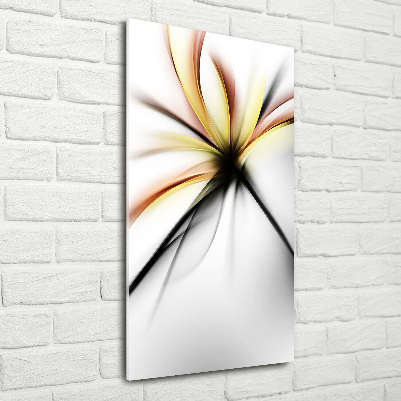 Wand-Bild Kunstdruck aus Acryl-Glas Hochformat 70x140 Abstrakte Blaume