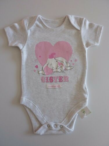DISNEY Dumbo SISTER so small and sweet Grey Bodysuit NWT