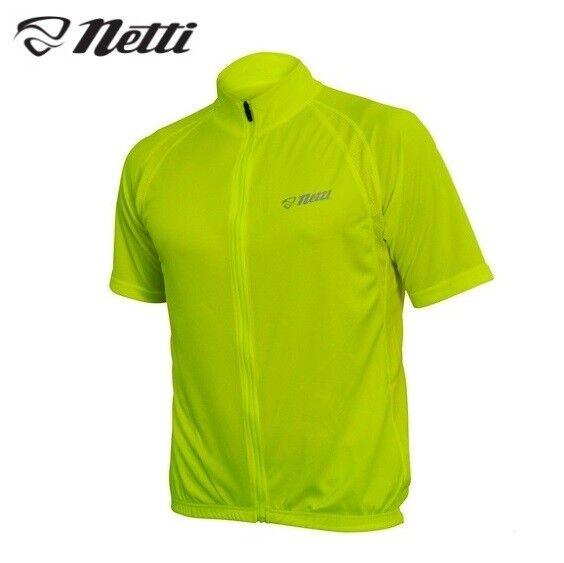 Netti Breeze Cycling Jersey - Hi Vis Fluro  Yellow - Size S, M  fashion