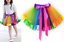 Women baby kid Girl Children Tutu Pettiskirt Princess Party Skirts Mini Rainbow