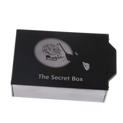 Magic Props The Secret Box Magic Black Pull Box Magic Tool Kids Trick Toys  I