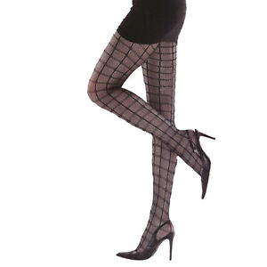 BLACK CHECKERS TIGHTS TUTU  FANCY DRESS  PARTY CYBER RAVE SIZE MEDIUM