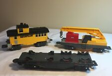 Toy State Ltd Caterpillar Construction Express Caboose Flat Car Loader Lot Of 3
