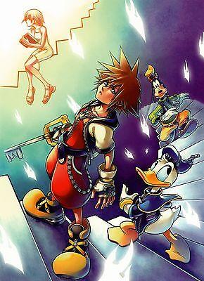 """❤️ Kingdom Hearts Poster Silk art wall decor  24x33"""" KDH12.1"""