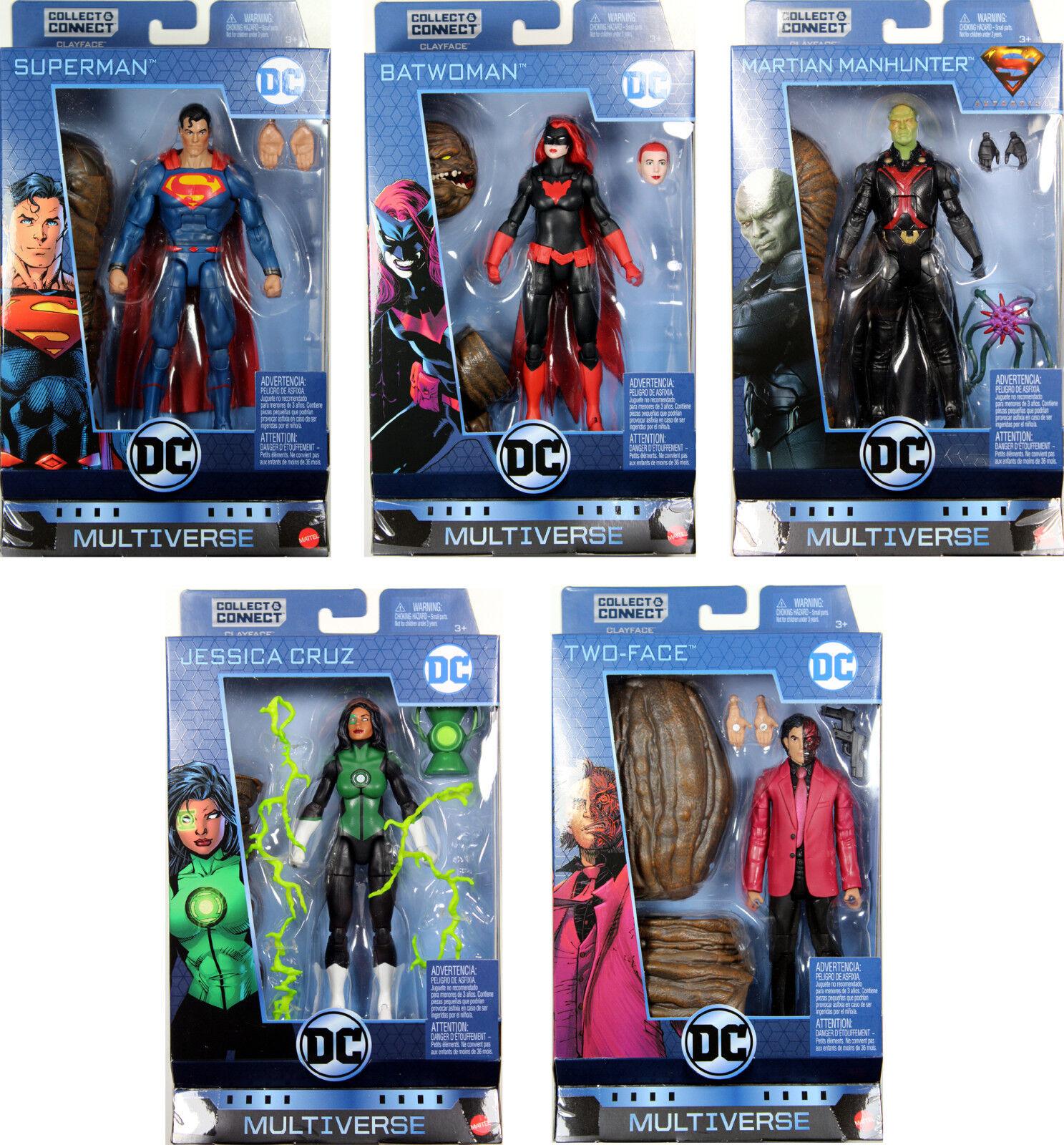 DC Multiverse 6  WAVE 8 ACTION FIGURE SET  Superman, Batwoman, Two-Face, Cruz++