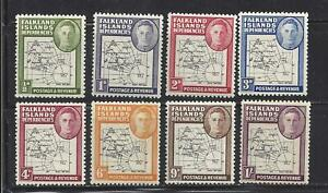 FALKLAND-ISLANDS-1L1a-1L8a-MNH-1948-MAP-OF-FALKLAND-ISLANDS