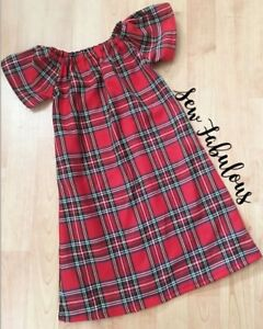 42c546a19d286 Details about Dress Red Tartan Baby Girls Clothes New UK Outfit Summer Lot  Garment Dresses