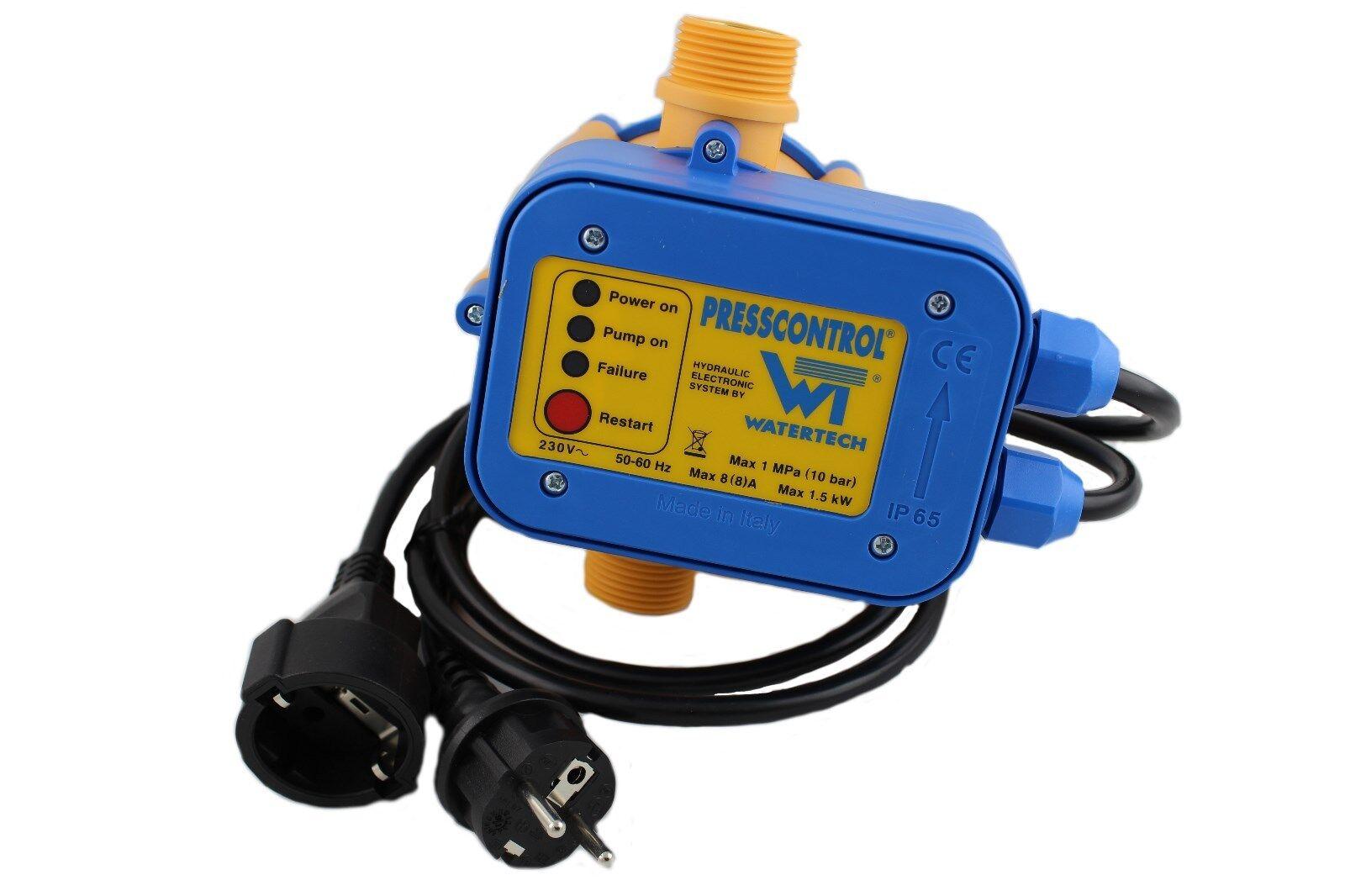 Watertech Control de la Bomba Control de Presión con Cable hasta 1,5KW, 230V 8A