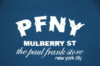 Paul Frank T Shirt The Paul Frank Store Nyc Mulberry St Navy 100% Cotton