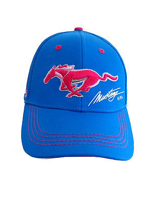 Mustang Girl Cap Ford Hat Turquoise Adjustable Cap the Legend Lives