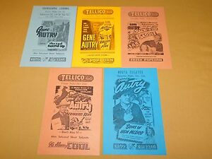 VINTAGE-5-8-1-2-034-X-5-1-2-034-GENE-AUTRY-TELLICO-THEATRE-TENN-MOVIE-BILLS-FLYERS